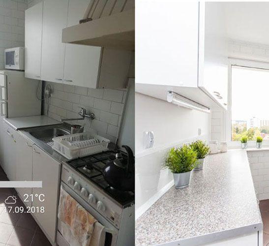 mieszkanie przed i po remoncie w Gdańsku