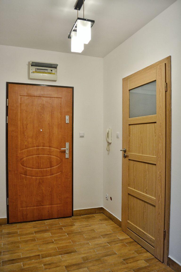 drzwi wejściowe w mieszkaniu na wynajem